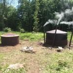 Charcoal Kilns burning